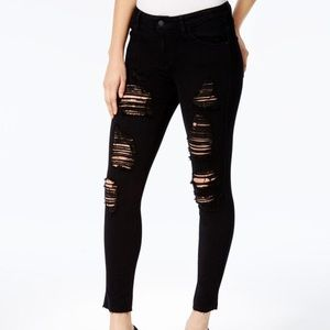🖤GUESS Skinny Ankle Black Ripped Distressed Jeans